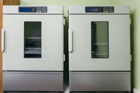Laboratory scientific incubator with thermal control system.
