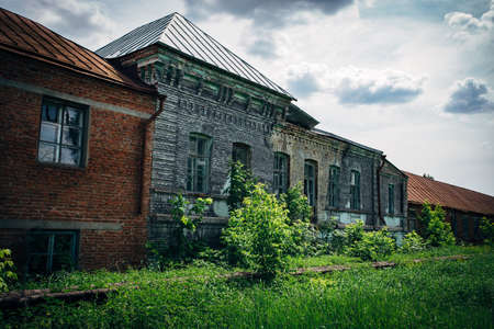 Old abandoned mansion in Stayevo village, Tambov region.