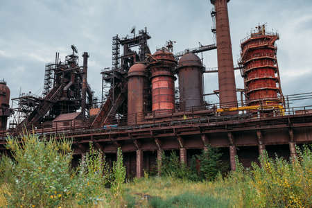 Blast furnace equipment of the metallurgical plant. Banco de Imagens