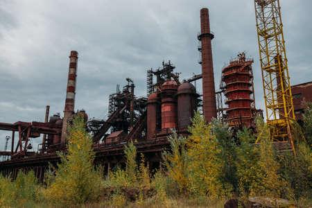 Blast furnace equipment of the metallurgical plant. Zdjęcie Seryjne