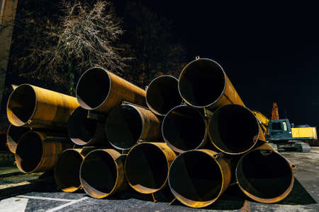 Iron pipes for repair of the sewer or water supply system.