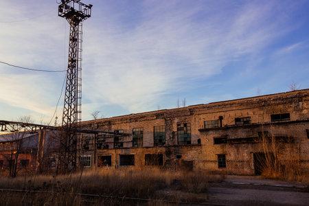 Old abandoned industrial building waiting for demolition.