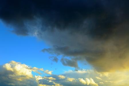 Summer.Thunder sky before rain