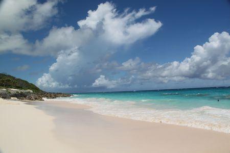 Bermuda. Atlantic ocean. White sand island