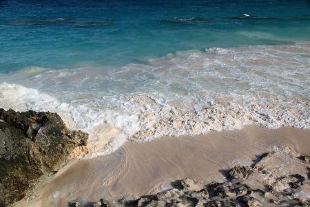 Fantastic view on Bermuda islands beach