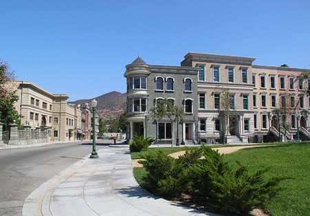Paramount Studios Pictures Empty street of a city. Los angeles Imagens - 94451750