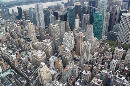 Vue Ariel sur Manhattan.New York.USA.Beautiful background.