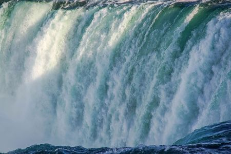 Gorgeous view of Niagara Falls landscape.Waves rumbling against the rocky shore. Beautiful nature backgrounds. 報道画像