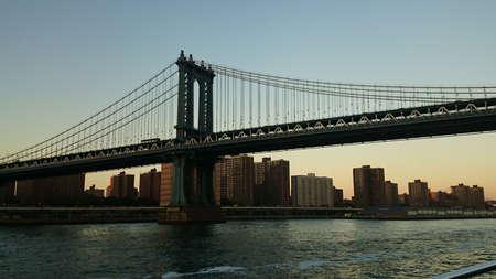 Beautiful view on one of bridges in Manhattan. New York.