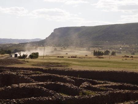 dust clouds in alpine ethiopia photo