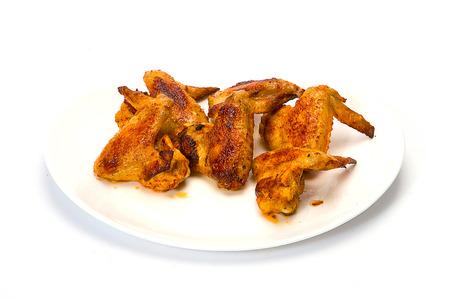 binge: Hot Wings isolated on white. Stock Photo