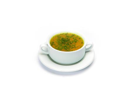 sopa de pollo: Caldo de pollo
