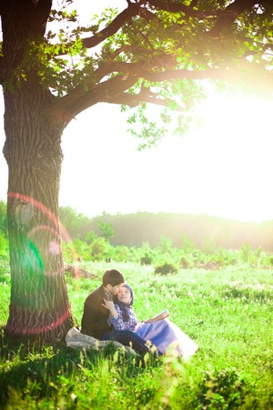 Couple in nature photo