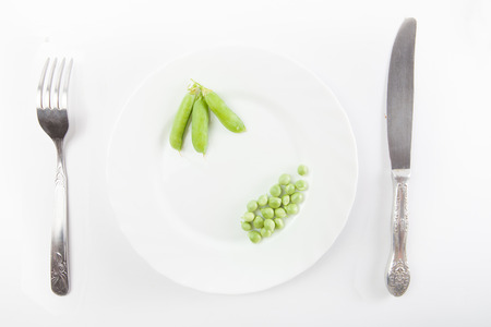 sweet sugar snap: Fresh green pea