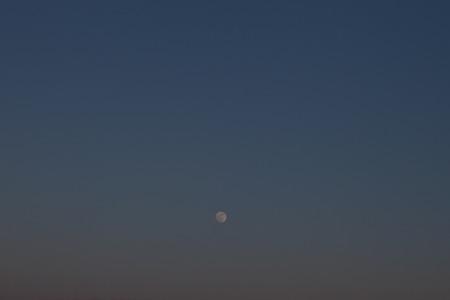 mt baker: Full moon and sky.