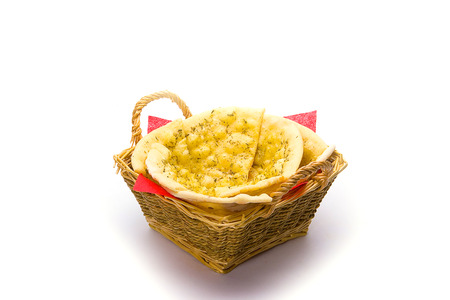 pita bread: Pita bread on white. Stock Photo