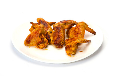 hot wings: Hot Wings isolated on white. Stock Photo