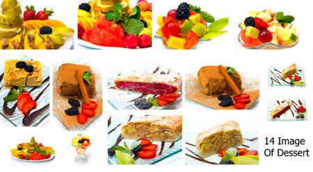 gelatin: Collection of desserts