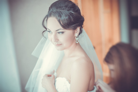 Bride preparing photo