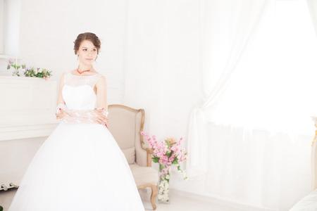 Happy bride Фото со стока