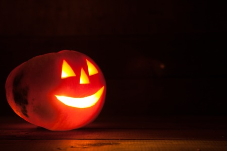 Illuminated halloween pumpkin