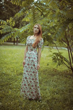 outdoor shot: Young Woman outdoor shot