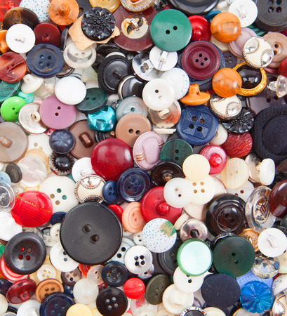 needlecraft product: Colored plastic buttons Stock Photo