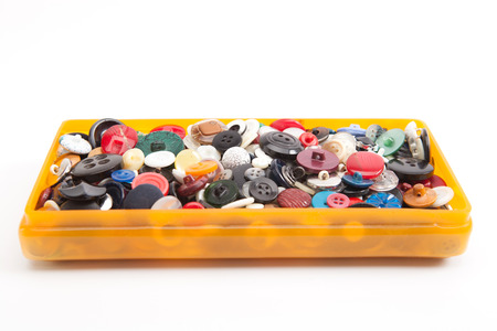 needlecraft product: Group of vintage buttons Stock Photo