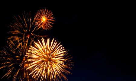 firework display: Beautiful firework display with the space for your text.