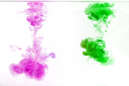 Abstract pattern background with abstract colours ink in water