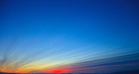 burning time: Classic sunset Stock Photo