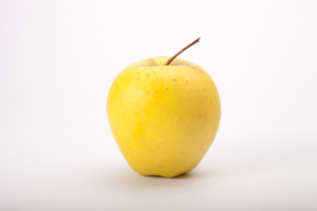 yellow apple: Yellow apple isolated on white background Stock Photo