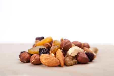 Heap of mixed nuts and dry fruits