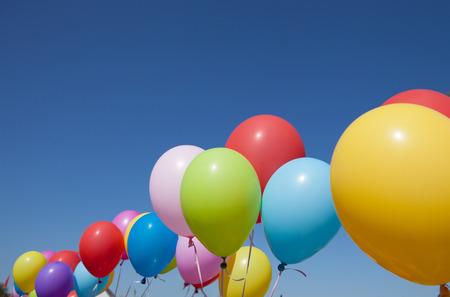 multicolored: multicolored balloons