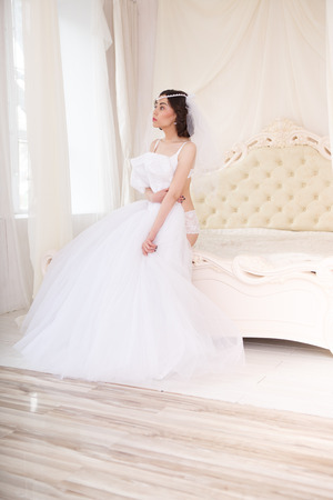 getting a bride: Bride getting ready on her wedding day