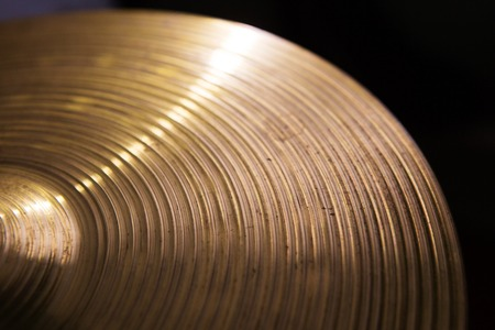 cymbals: Vintage hi-hat closeup, for music, entertainment themes