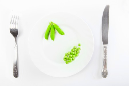 green pea: Fresh green pea isolated on white background