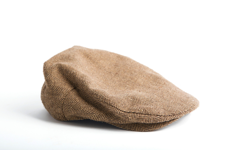 soft peak: Wool cap on a white background