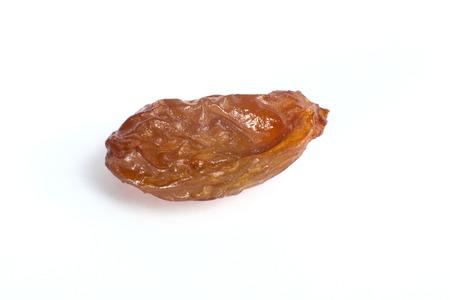 jumbo: Golden jumbo size raisin on white background