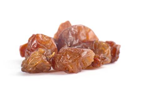 sultanas: brown sultanas raisins isolated on white background cutout Stock Photo