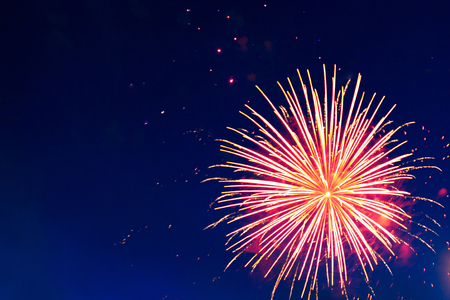 white work: Beautiful holiday fireworks. Independence Day, 4th of July, Fourth of July or New Year.