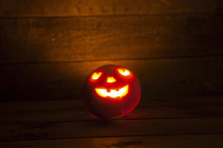 illuminated: Illuminated halloween pumpkin