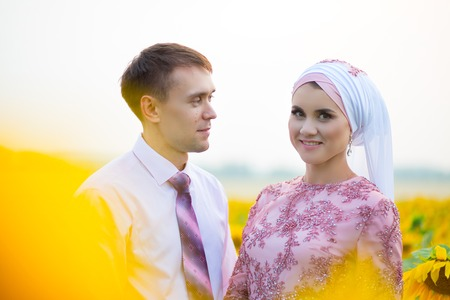 Bride and groom at a islamic wedding ceremony muslim marriage bride and groom at a islamic wedding ceremony muslim marriage stock photo 69214142 junglespirit Gallery