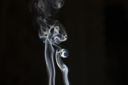 phlegm: Creative smoke on black background. Abstract fumes Stock Photo