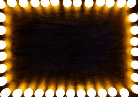Christmas light on black background with copy space. Standard-Bild - 114141391