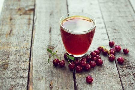 Fresh Berry Cherry in Summer Garden on a wooden table. Reklamní fotografie