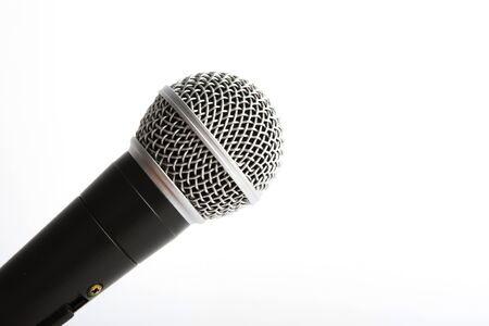 Microphone isolated on white Standard-Bild - 133247928
