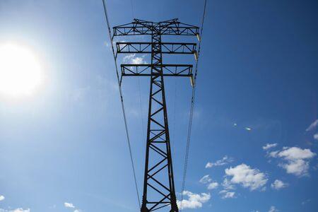 electric pole cable Фото со стока