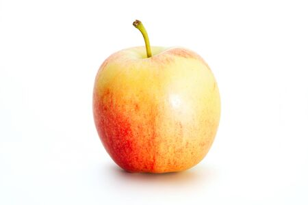 Delicious appetizing beautiful fresh red apple isolated on a white background. Stock fotó