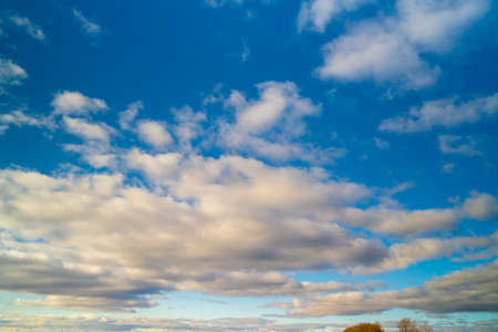 A beautiful textured sky with clouds. Nature